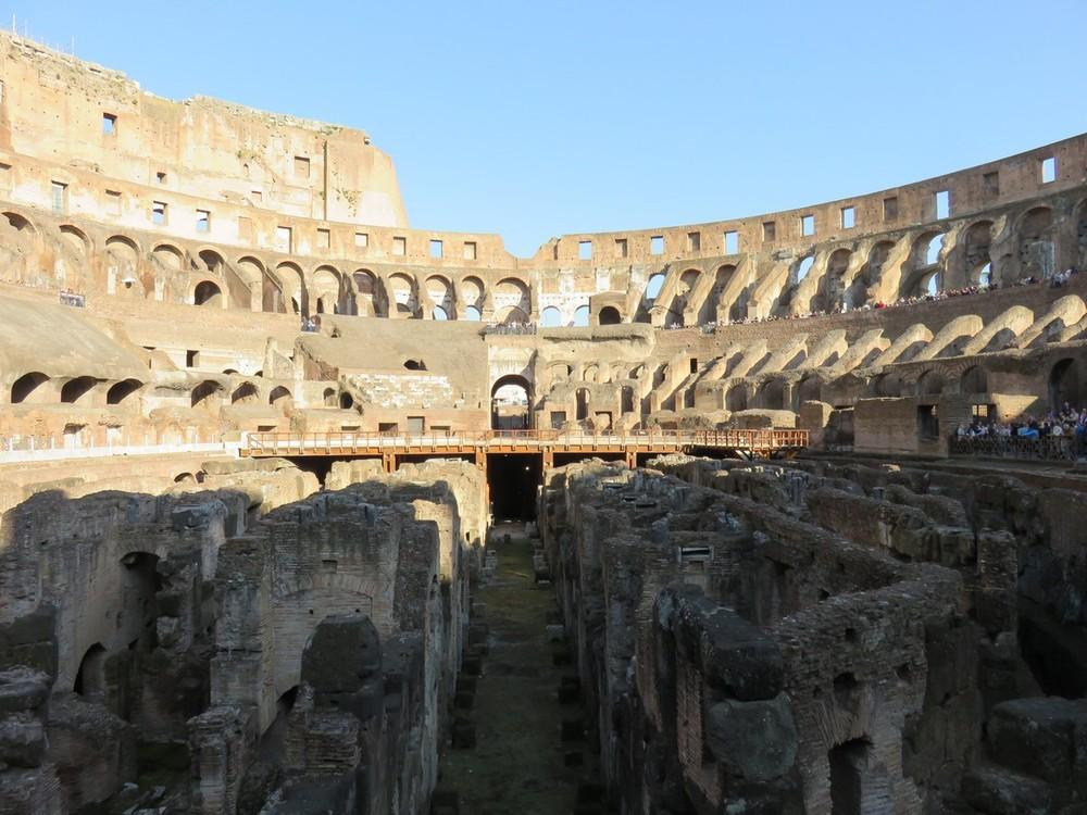 The interior of the Colosseum... breathtaking!