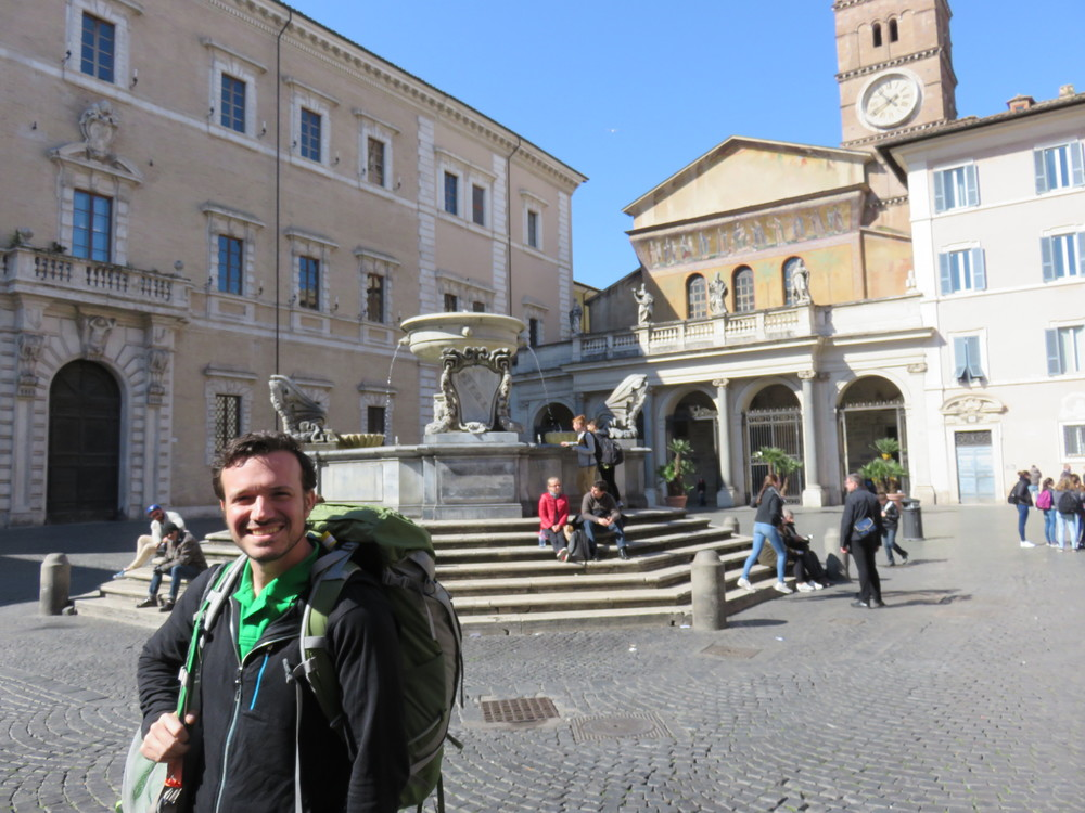 Our first morning in Roma