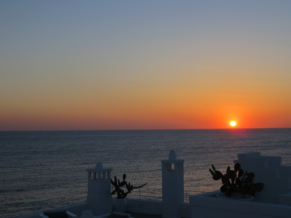 Sunrise on our last day in Puglia