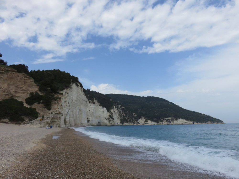 Limestone cliffs of the Gargano peninsula