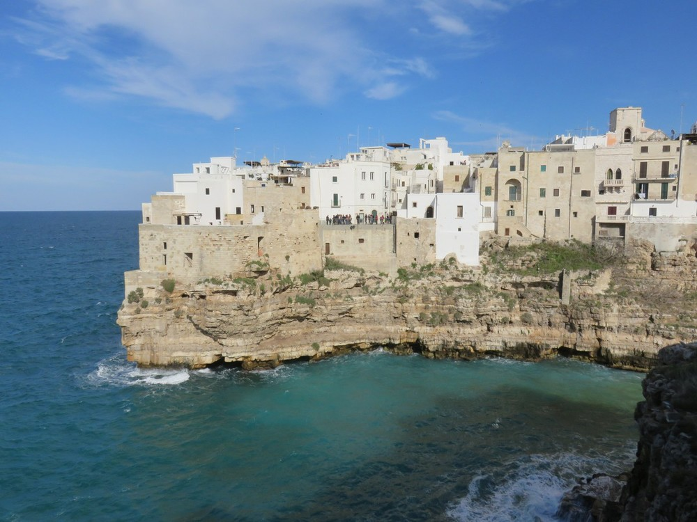 Adorable Polignano A Mare along the cobalt Adriatic seas