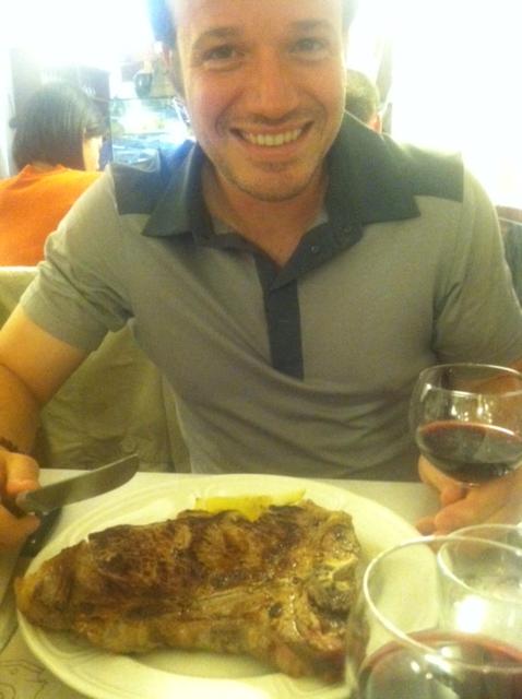 Chiannina steak. It's big.....I guess.....