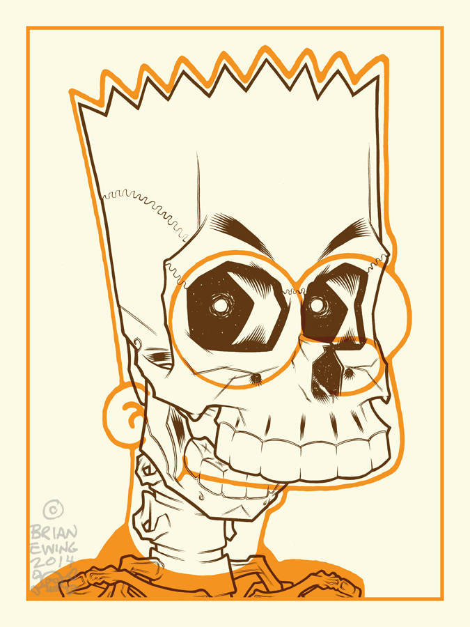 Brian Ewing Bart Simpson [Halloween], via brianewing.com