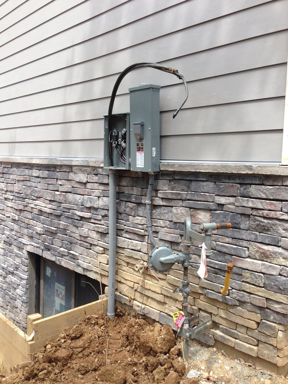 The electrical wiring is installed and we are ready for a meter!