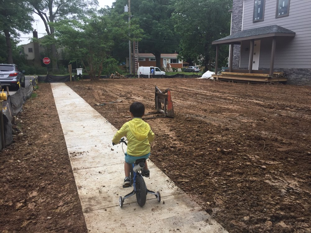Pedro was happy and sad that all the dirt was gone. He now has a place to ride his bike but nowhere to climb.