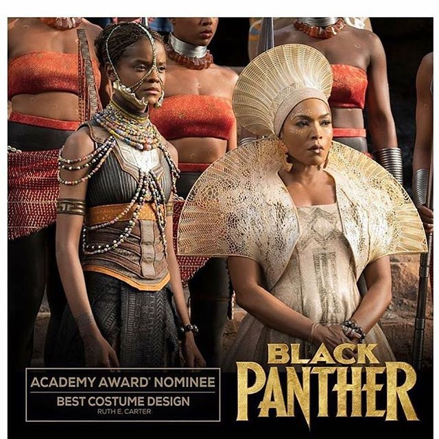 Nominated for BEST Picture, BEST Production Design, BEST Costume Design...and the list goes on!  Congratulations @therealruthecarter !  It was an honor to work with you on such a culturally significant project. Black Panther deserves every accolade and WIN it receives. * Who's ready for Black Panther 2? * #blackpanther #academyawards #bestpicture #bestproductiondesign #bestcostumedesign #iamwakanda #wakandaforever