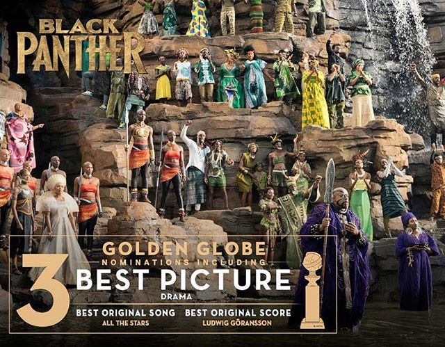 How amazing is THIS?!?! GOLDEN GLOBE NOMINATIONS!!! Congrats to all the Cast and the rest of the Crew!!! #wakandaforever #wakandaunite