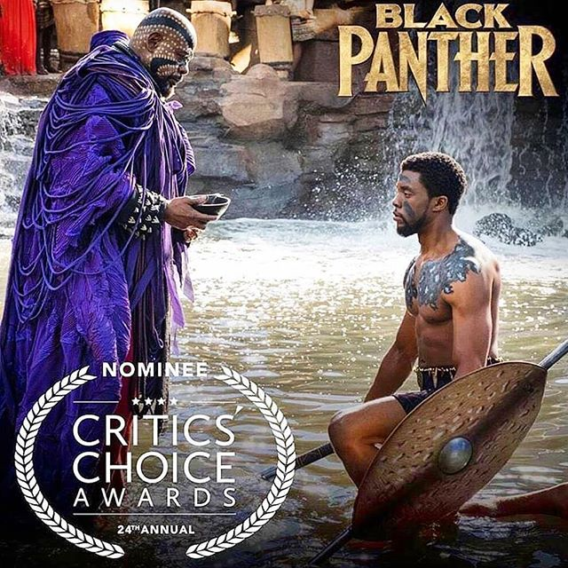 Black Panther is Nominated for 12 Critic Choice Awards  including Best Costume Design!! Ruth! You deserve all of the love and accolades flowing your way. CONGRATS to the whole crew and the costume department!  I'm elated to be part of all of it.
