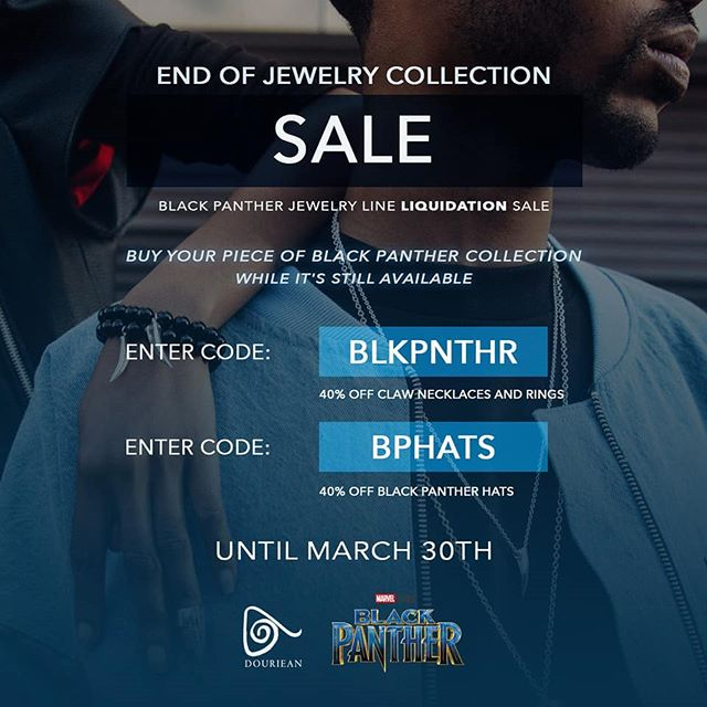 Only 2 days left to buy your piece from the only Official Black Panther Fine Jewelry Collection from Marvel! Then it's gone!