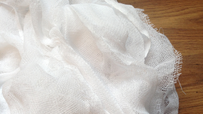The cotton cheesecloth before staining.