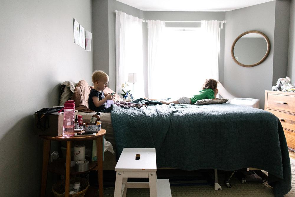 kids at birth home