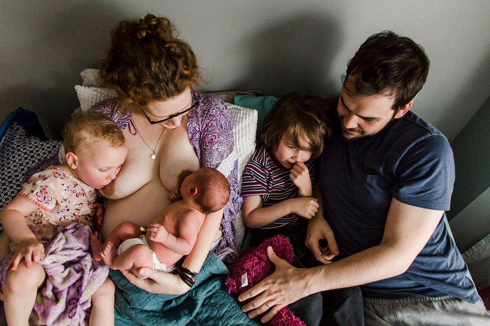 tandem nursing after home birth maple ridge photographer