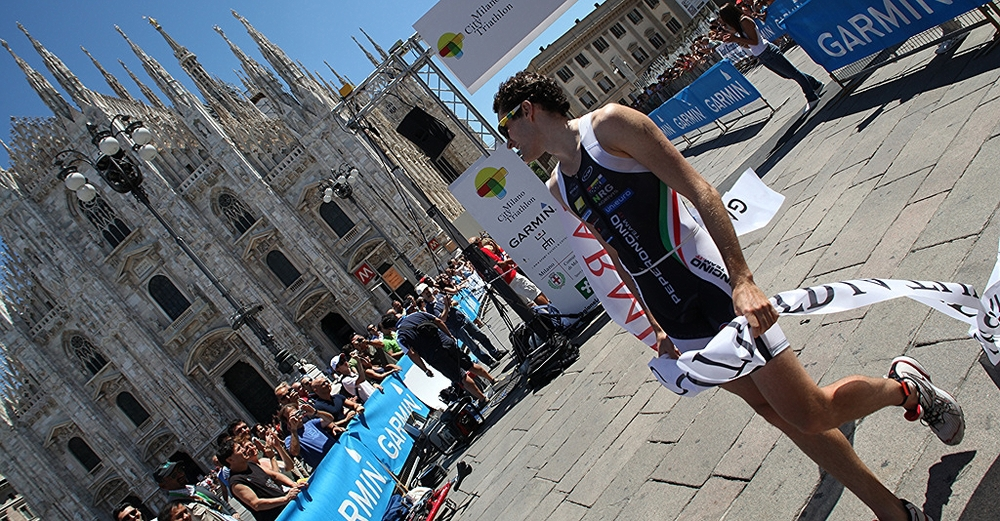 Ok, this photo is actually from Milan, but Italy's Italy, and a triathlon isa triathlon so you get the point.