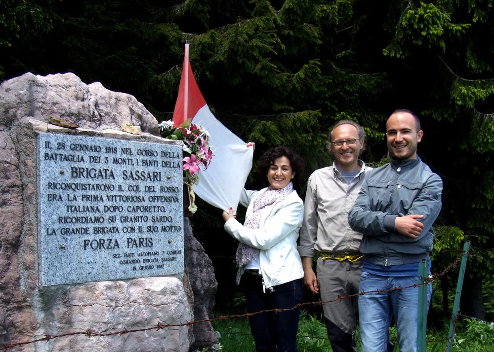 Sul Col del Rosso, monumento alla Brigata Sassari - Monica Dal Molin, Enrico Caneva e Alberto Cabboi