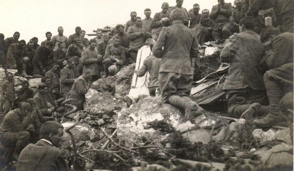 Messa sulle pendici dell'Ortigara - 1917