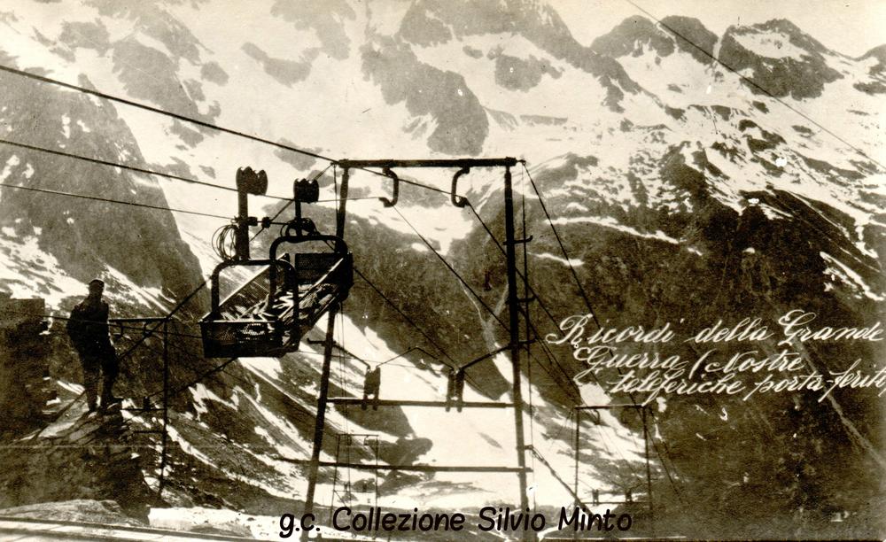Fronte Dolomitico: sistema di teleferiche italiane per l'evacuazione dei feriti