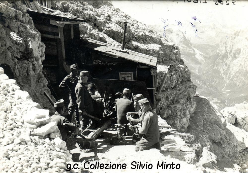 """Fronte Dolomitico: postazione di artiglieria austroungarica sul """"Vecio del Forame"""""""