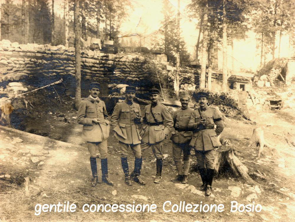 Ufficiali francesi in prima linea sull'Altopiano di Asiago