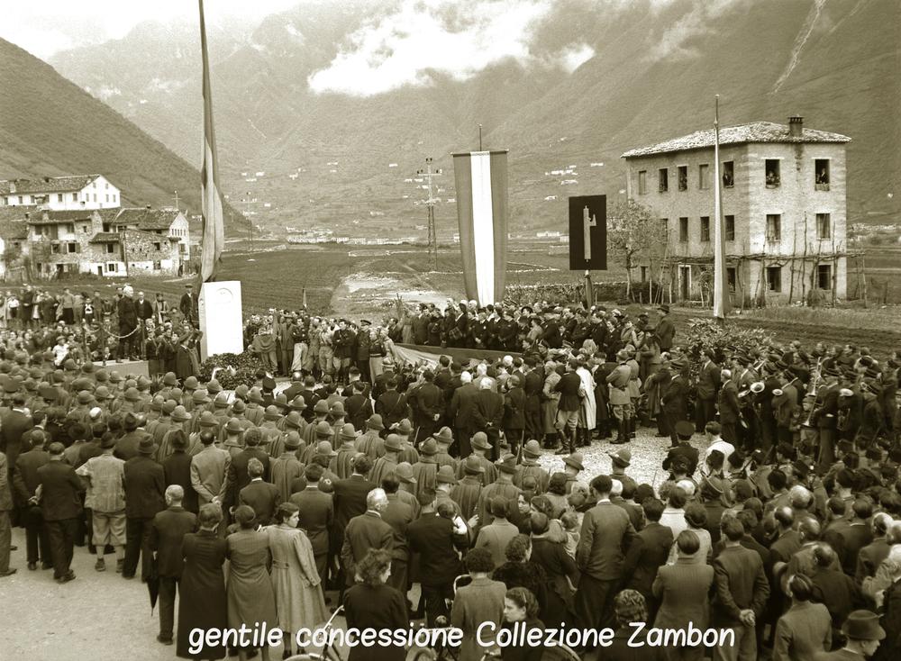 Campese: inagurazione della Stele dedicata a Gabriele D'Annunzio durante il periodo fascista