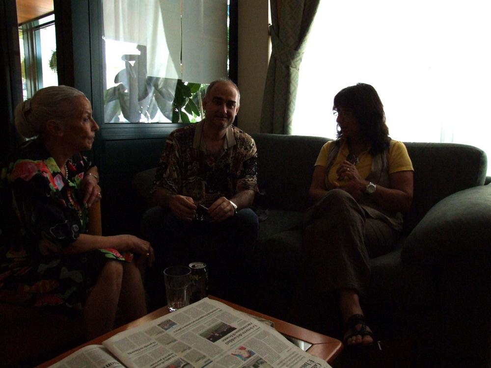 con Palma Viola e la regista cinematografica Francesca Elia.JPG