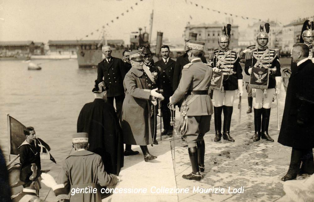 S.M. il Re a Fiume per la cerimonia di annessione all'Italia nel marzo del 1924