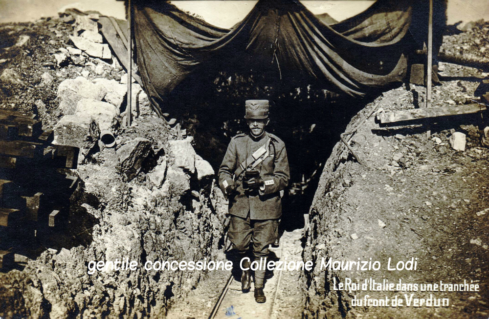 S.M. il Re in una trincea del fronte occidentale (Verdun - settembre 1917)