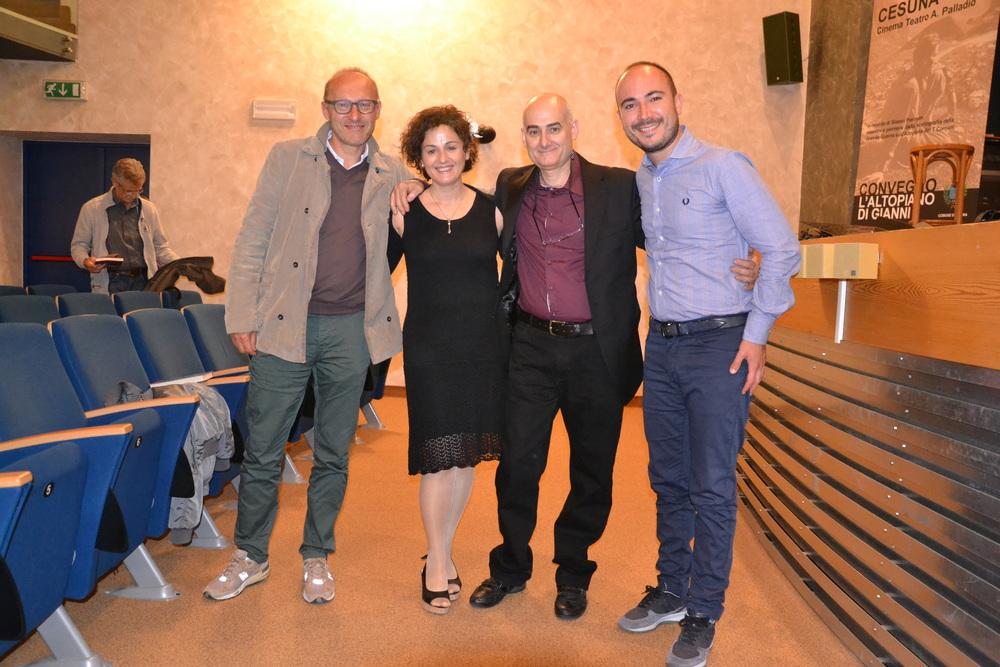 E. Caneva, M. Dal Molin, R. Dal Molin e A. Cabboi (Cesuna giugno '14)