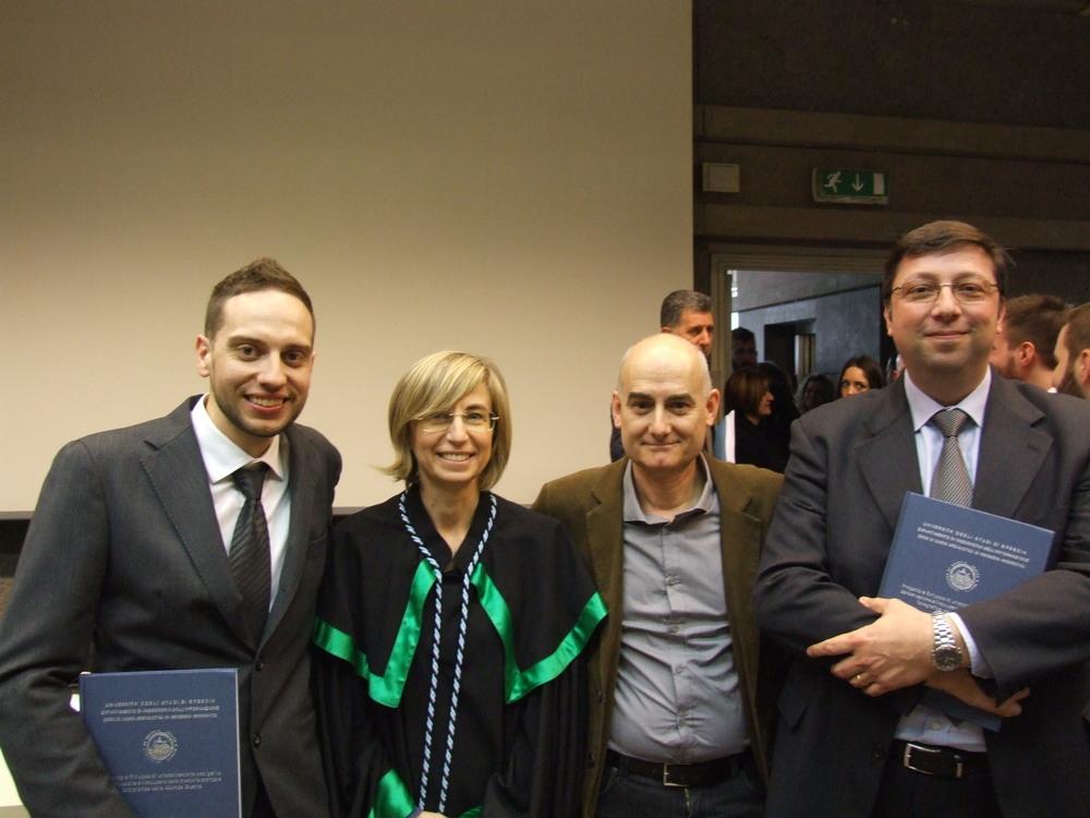 Bruno Cerutti, Daniela Fogli, Ruggero Dal Molin,Stefano Aluisini (Università di Brescia 2015)