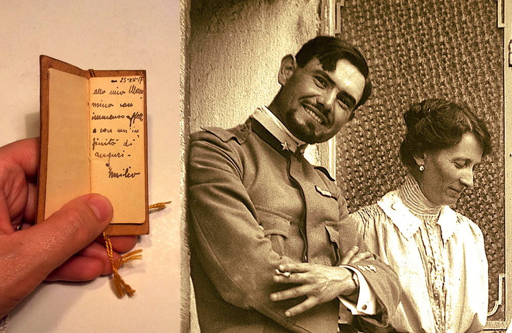 L'agendina donata a Maria Teresa Nardini da E. Lussu