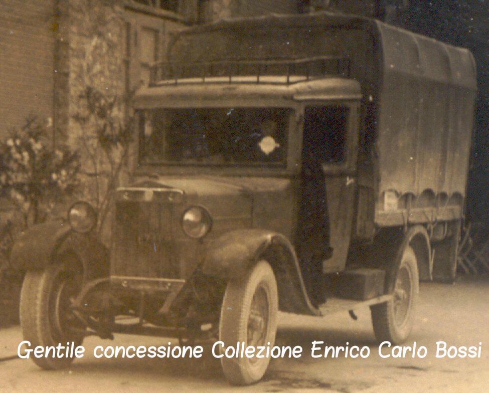 Autocarro FIAT adibito a rifornimenti G. di F. Klava