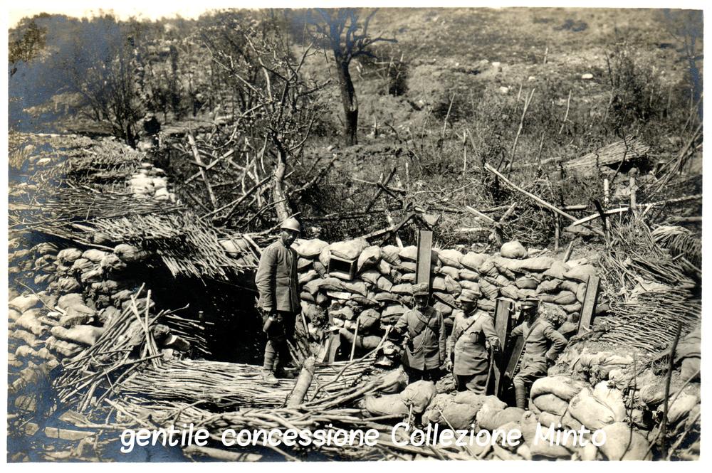 Trinceramenti italiani nel settore del Monte San Michele