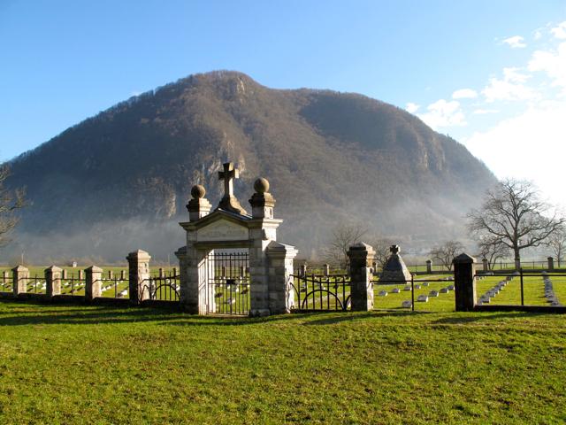 Il cimitero militare austriaco di Modreice.