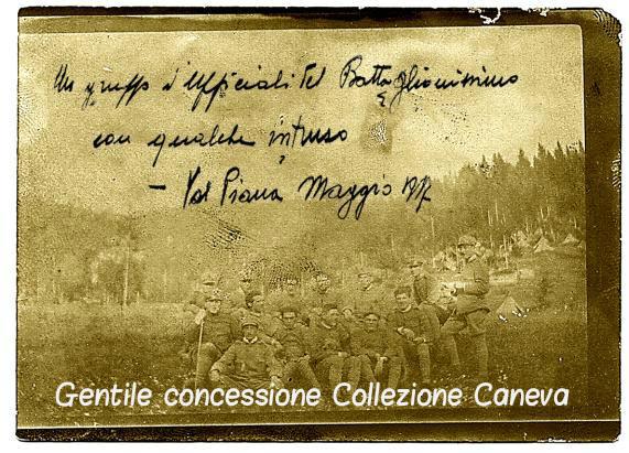 Gruppo di ufficiali del 3°/151° in Val Piana, nel maggio del 1917 - Coll. Caneva