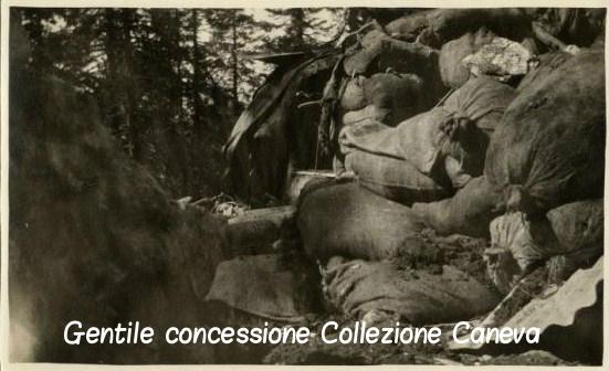 Le linee della Sassari sconvolte dall'artiglieria italiana il 10 giugno 1917 – Coll. Caneva