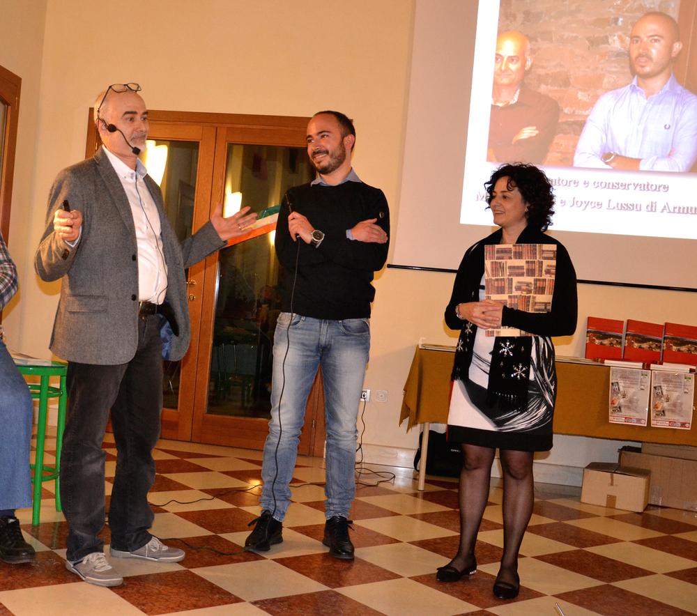 Alberto Cabboi tra Ruggero e Monica Dal Molin