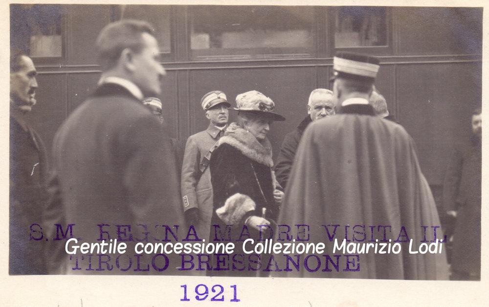 Alto Adige - Tirolo Redento 13 novembre 1921 Visita della Regina Madre Margherita di Savoia a Bressanone (c).jpg
