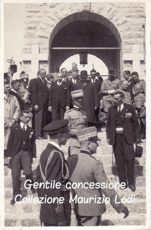 Monte Cimone 28 09 1929 Principe Umberto Savoia inaugurazione Ossario Cimone cript.jpg