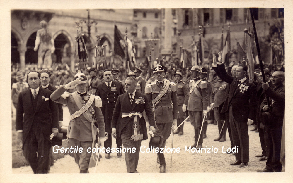 4  5 giu 1927 adalberto savoia duca bergamo cerim pantheon caduti gg e parco rimembranza C.jpg