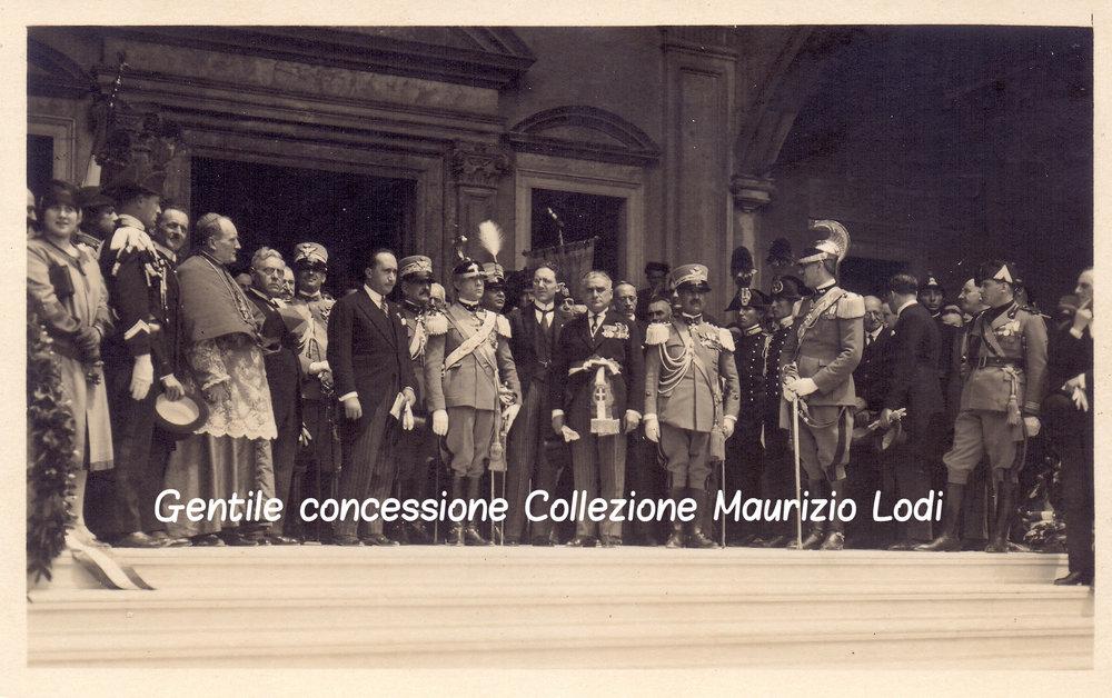5  5 giu 1927 adalberto savoia duca bergamo cerim pantheon caduti gg e parco rimembranza C.jpg