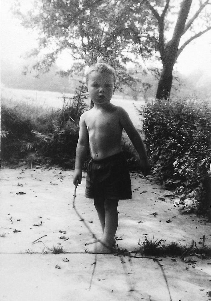 Das bin ich mit ca. 3 Jahren.