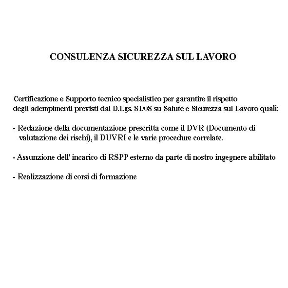 certificazione dgl 81/2008