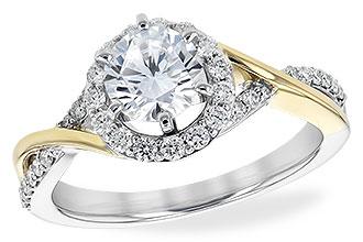 ladies diamond engagement ring
