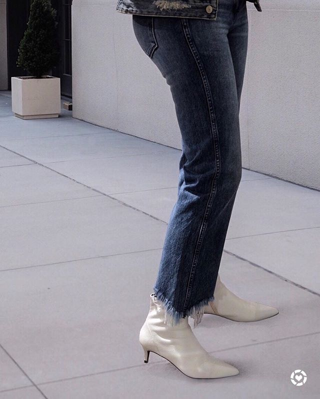 "The ""it"" bootie of the season. Remember the old rule - can't wear white shoes after Labor Day. # No rules in fashion http://liketk.it/2sNWV @liketoknow.it #liketkit #LTKfamily #LTKstyletip #LTKshoecrush Shop your screenshot of this pic with the LIKEtoKNOW.it app"