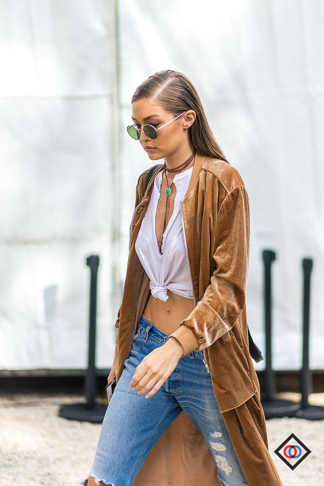 GIGI HADID wearing LAVISH ALICE jacket