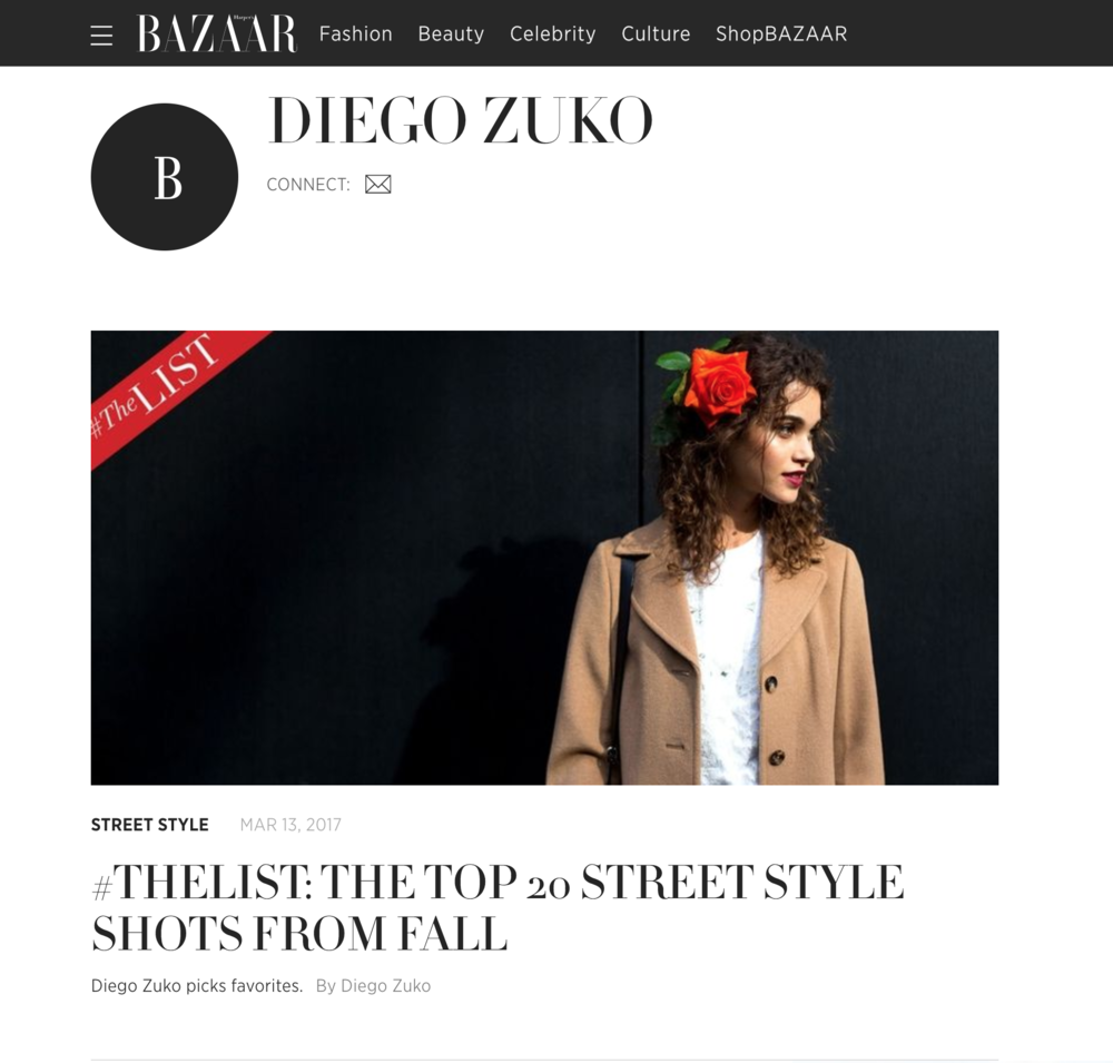 Diego Zuko's favorite Street Style snaps for Harper's Bazaar US  - Click here to see the full list