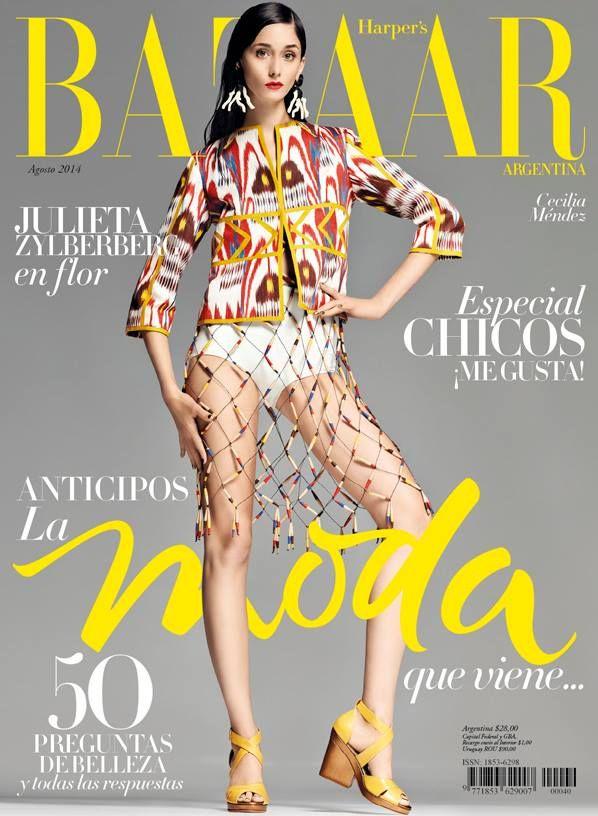 Harper's Bazaar Argentina Cover featuringCeci Mendez -