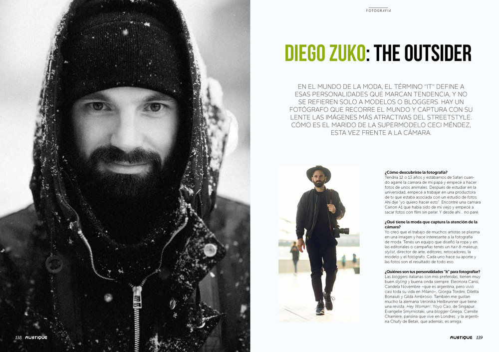 Diego Zuko's Interview for Mustique Magazine -
