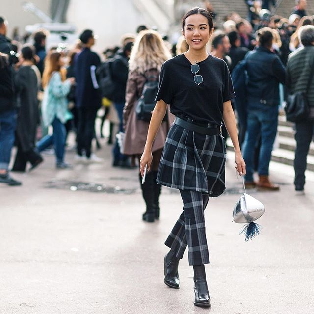 When in doubt, wear both @yoyokulala #pfw #parisfashionweek #ss18 #streetstyle #streetfashion #theoutsiderblog #diegozuko