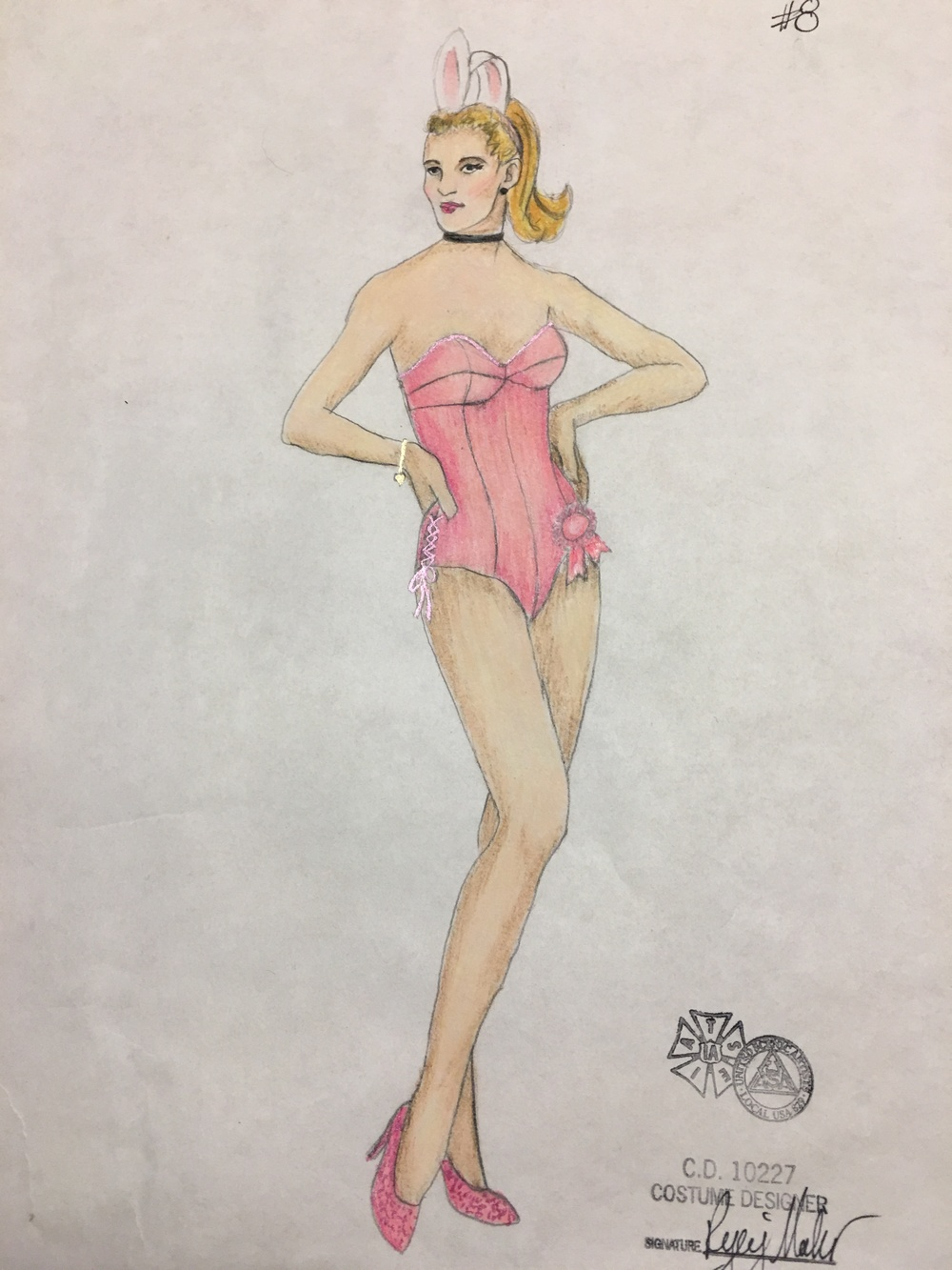 Sketch for Elle's Playboy Bunny Suit
