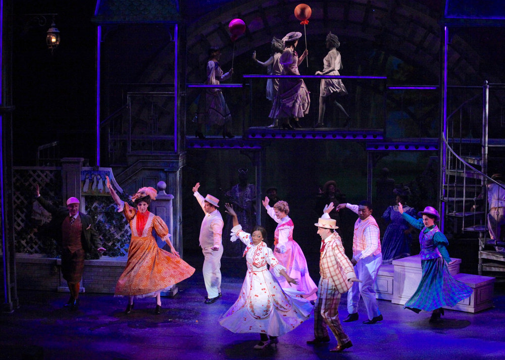 "Janeta Jackson, Caleb Sigmon and Company in ""Jolly Holiday"""